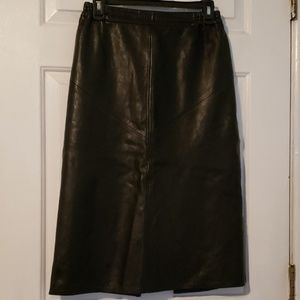 Studio mode womens leather skirt authentic